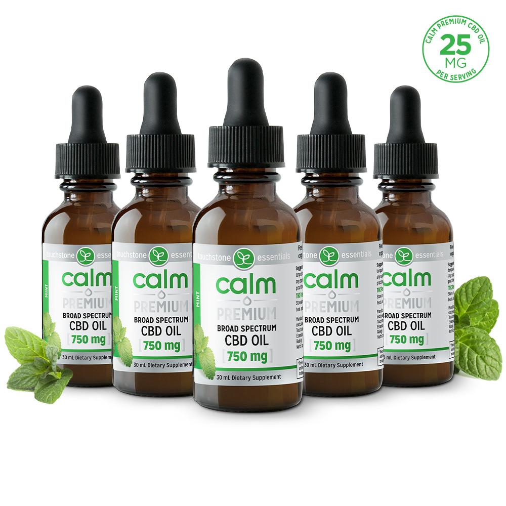 CALM Hemp Oil (Mint) 750mg (5 Pack)