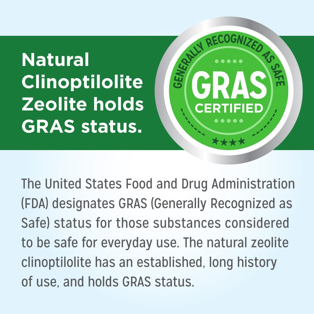 Natural Clinoptilolite Zeolite holds GRAS status