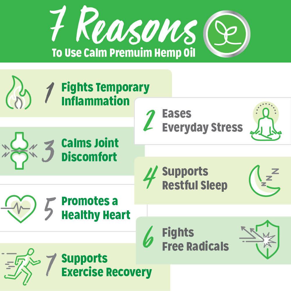 7 Reasons for Calm Premium CBD Oil