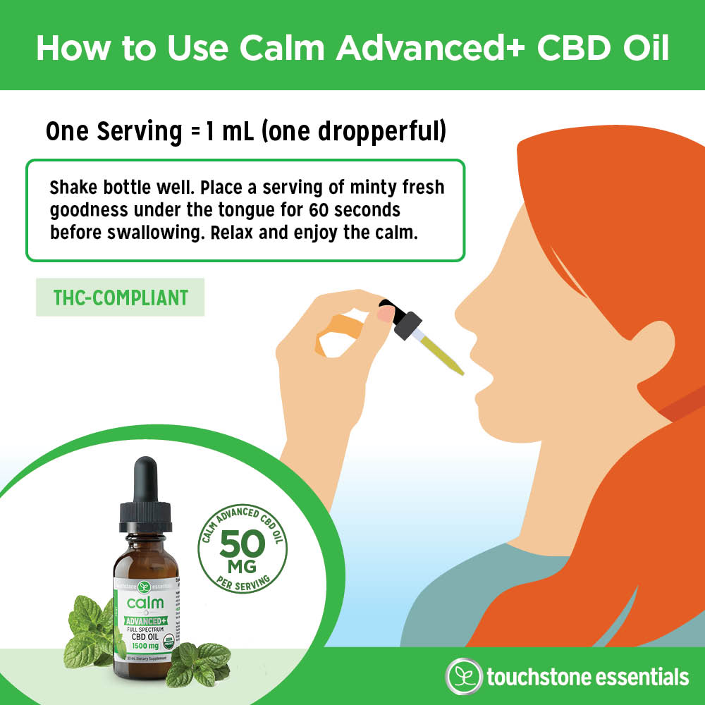 How to Use Calm Advanced+ CBD Oil