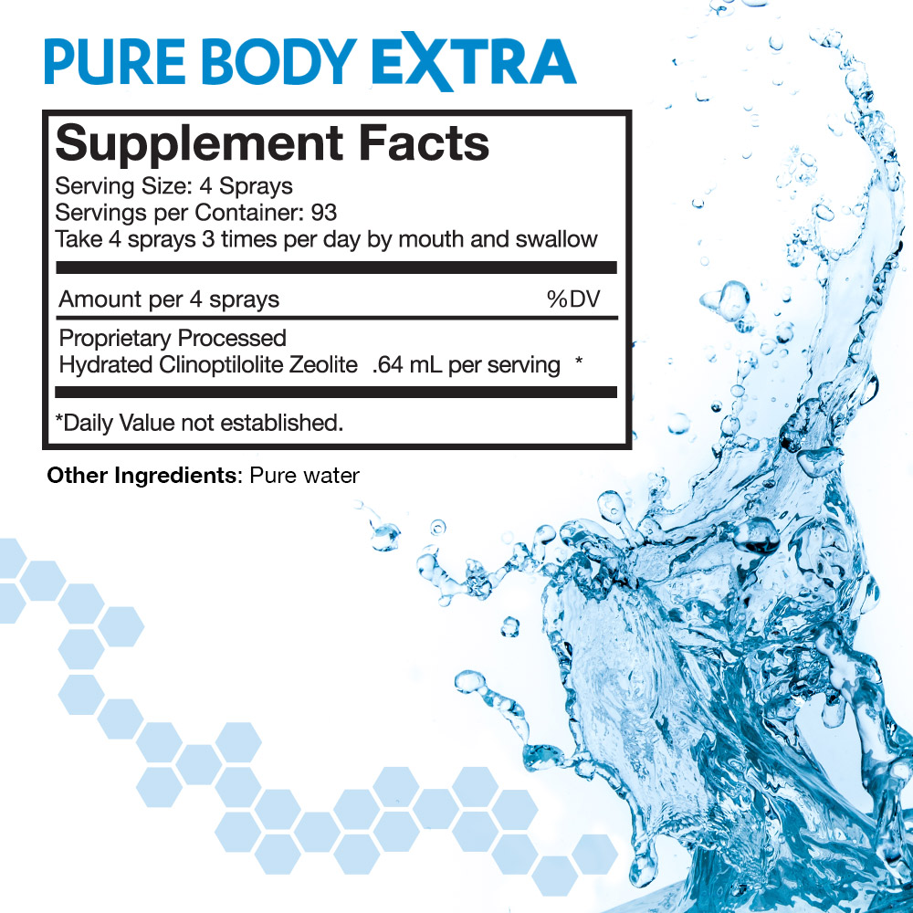 Pure Body Extra Supplement Facts Panel