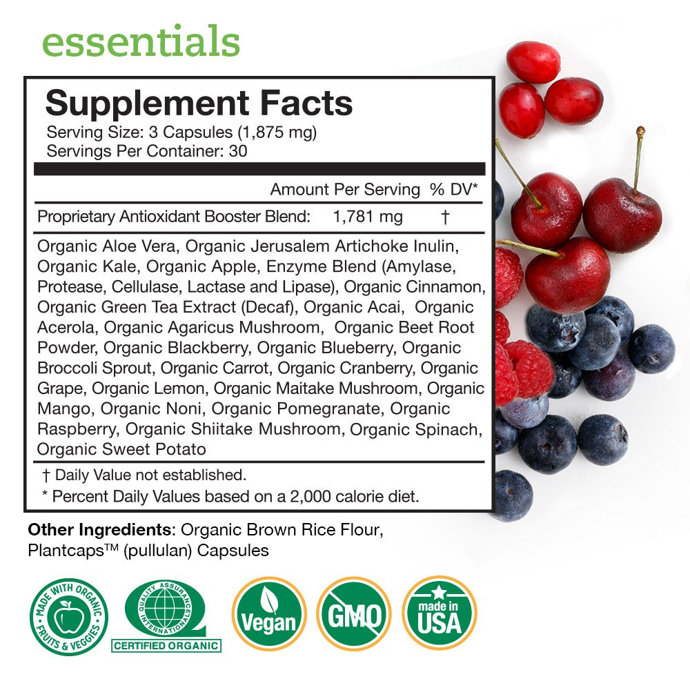 Essentials Supplement Facts Panel