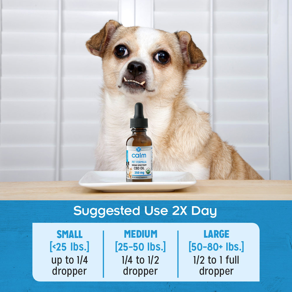 Calm Pet Formula Suggested Use