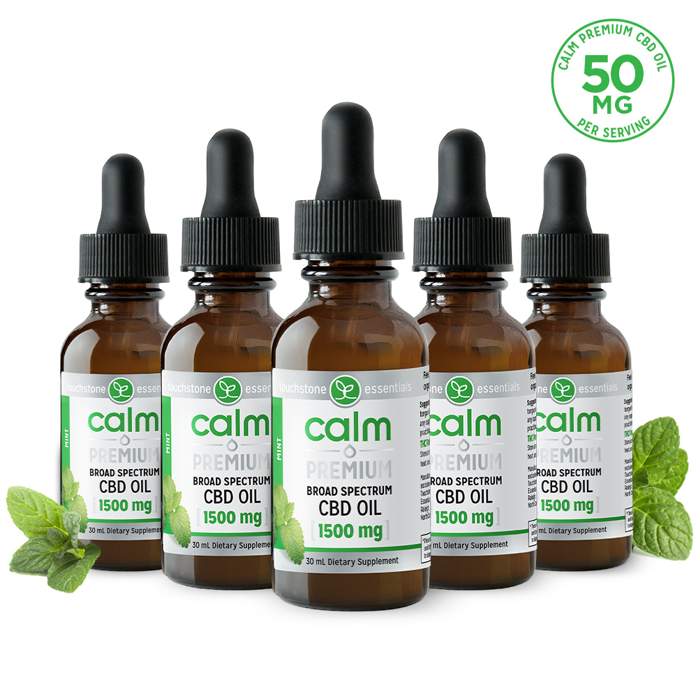Calm Premium CBD Oil 1500mg 5-pack