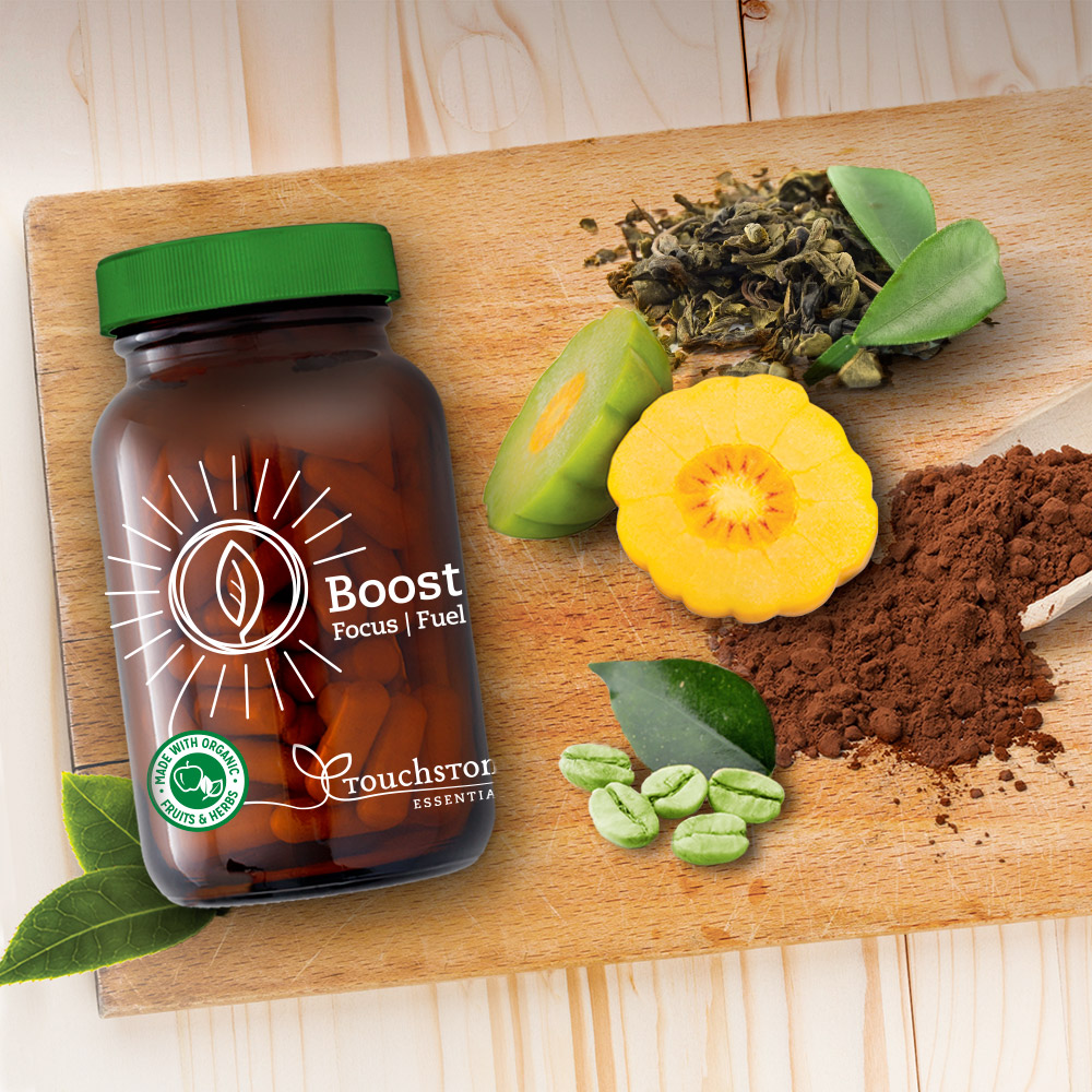 Our proprietary blend of organic plants helps boost metabolism, sharpen focus and fuel natural energy.