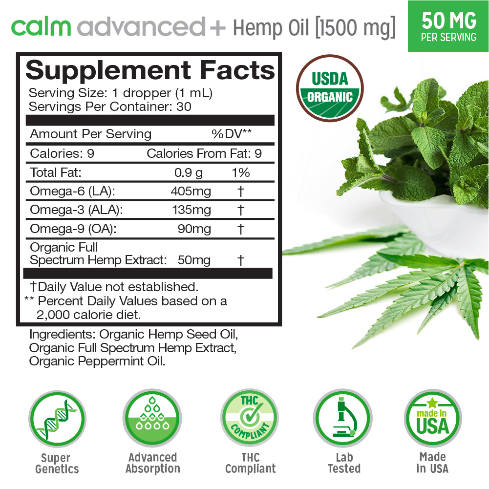 Calm Advanced+ Supplement Facts