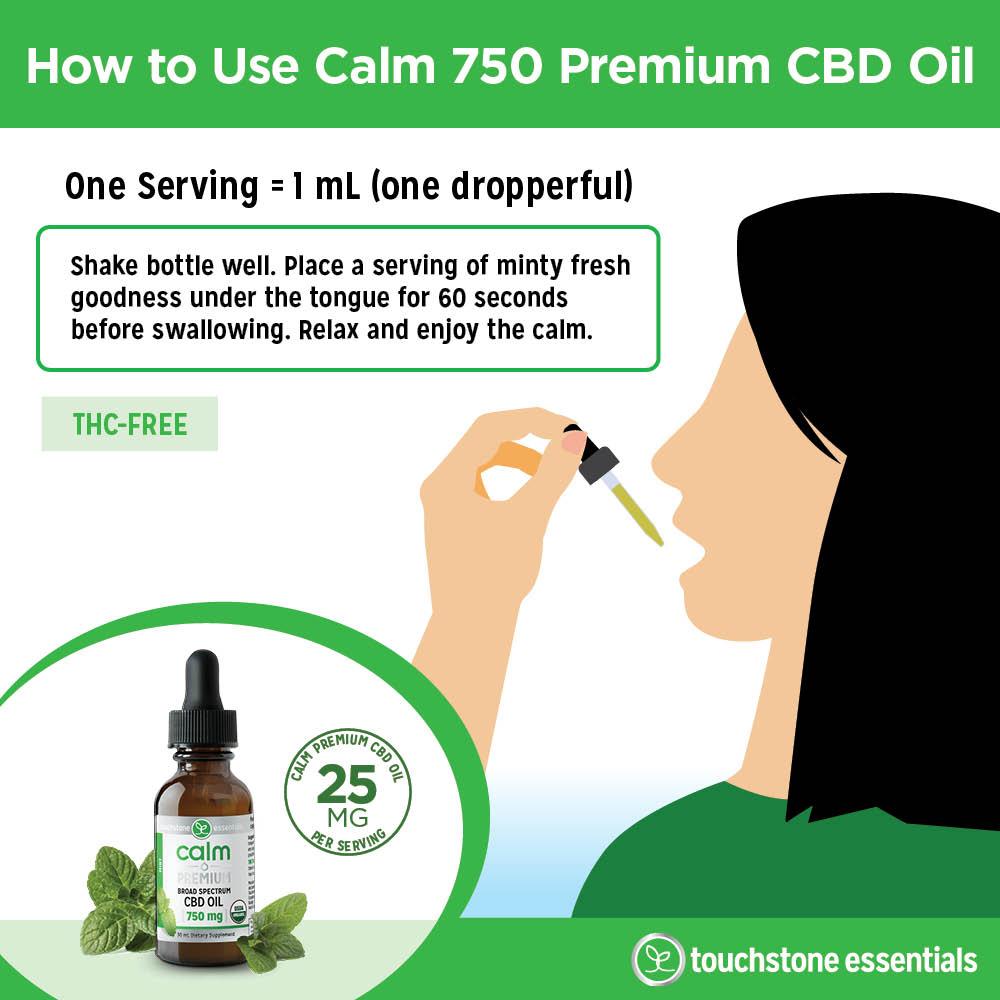 How to Use Calm 750 Premium CBD Oil