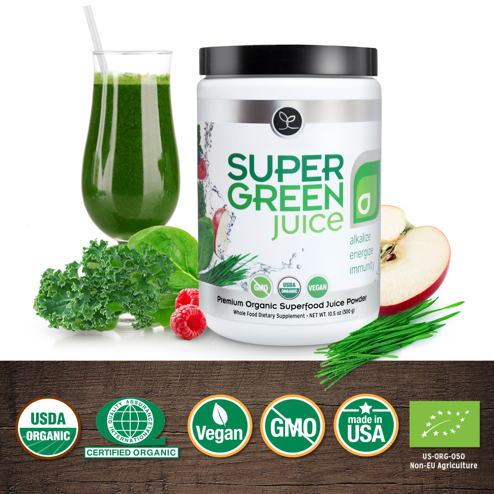 Super Green Juice is certified USDA organic by Quality Assurance International!