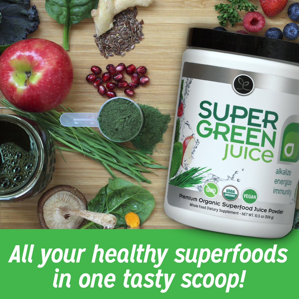 All your healthy superfoods in one tasty scoop!