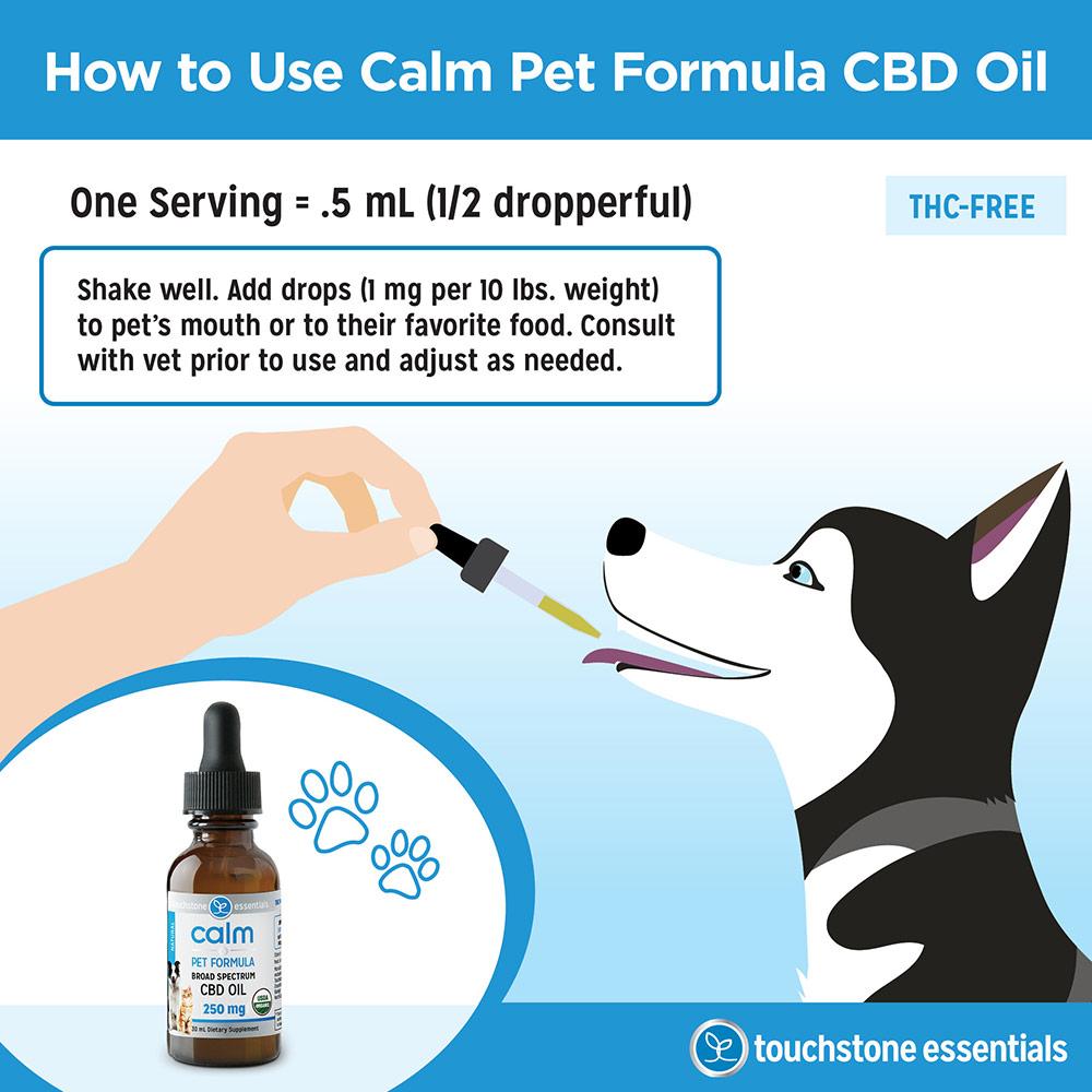 How to Use Calm Pet Formula CBD Oil