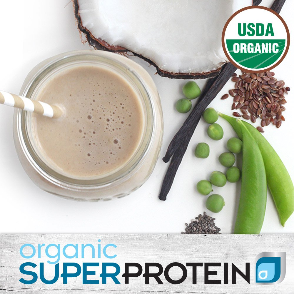 Get 18g of organic protein that is soy free and dairy free, plus organic MCTs and no added sugar