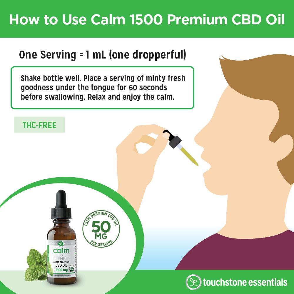 How to Use Calm 1500 Premium CBD Oil