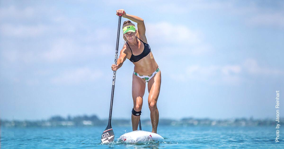Champion Paddleboarder Seychelle Webster